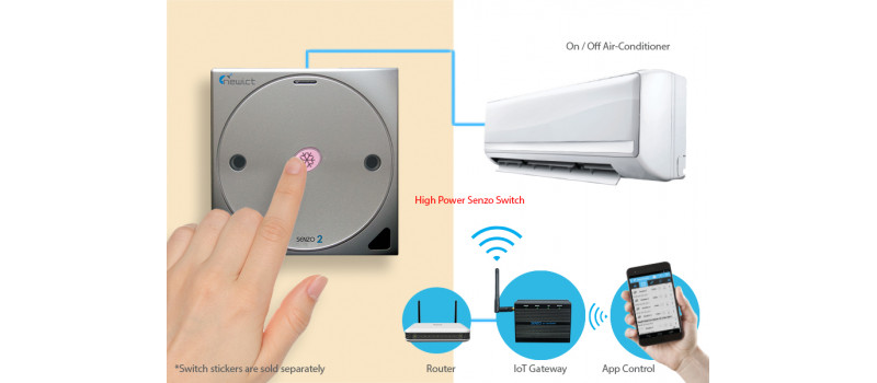 Senzo 2 Smart Switch with 1 High Power (Silver)
