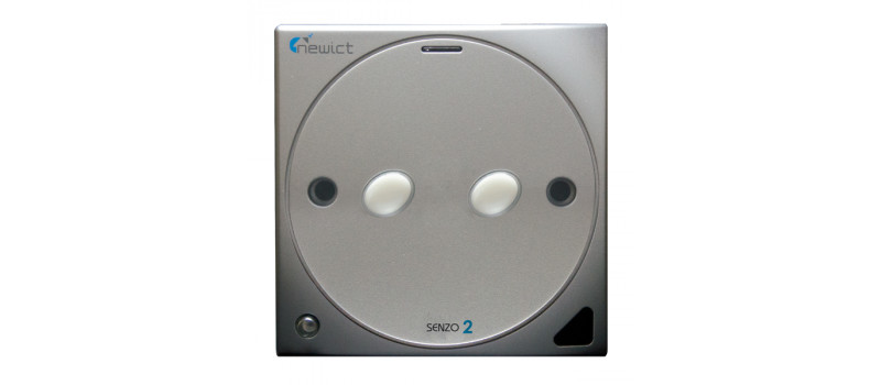 Senzo 2 Smart Switch with 2 On/Off (Silver)