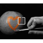 Orange Heart - 1 On/Off